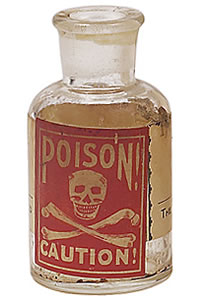 cyanide poison bottle